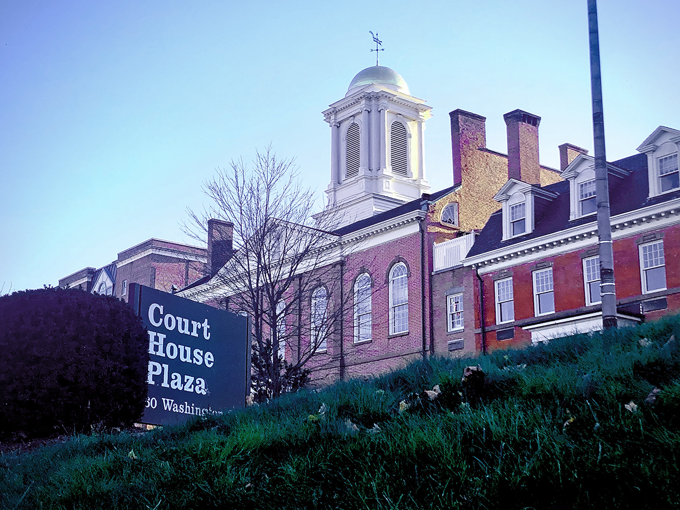 Court house building and front sign in Morristown New Jersey Architectural Photography