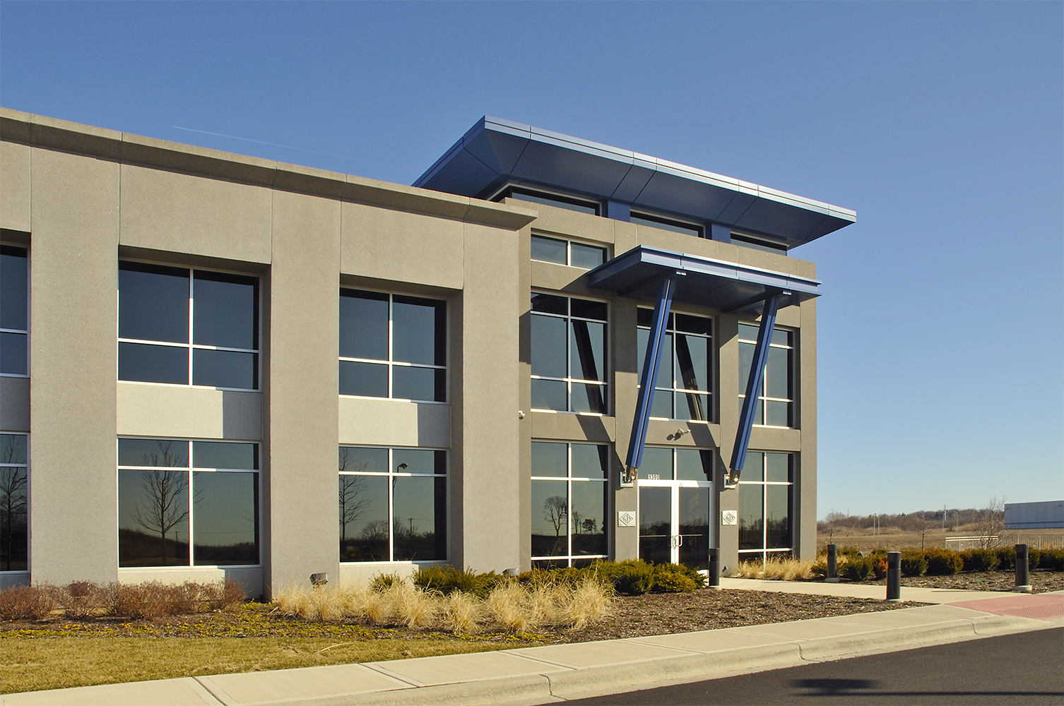 Exterior architectural shot of SP Products building Architectural Photography
