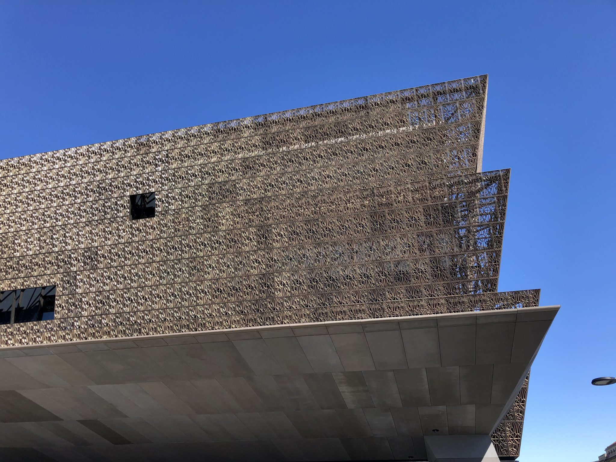 Detail of African American Museum in Washington DC